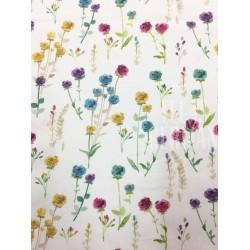 Plano de algodon ramitas de colores