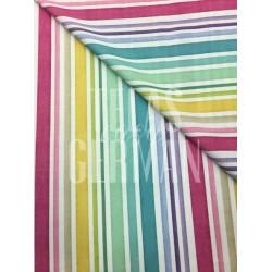 Algodón de rayas de colores Alaia