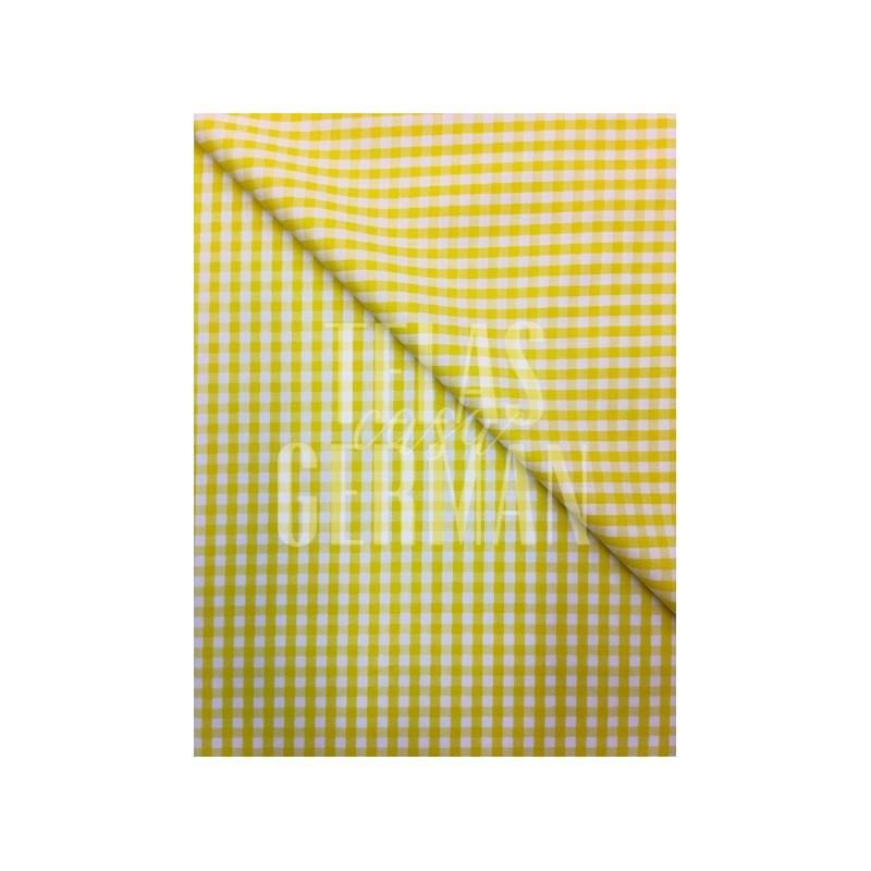Cuadro vichy amarillo pequeño